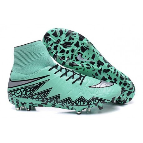 Chaussures football Nike Hypervenom Phantom II FG - Bleu Argent