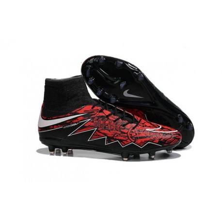 Chaussures football Robert Lewandowski Nike Hypervenom Phantom II FG - Rouge Noir