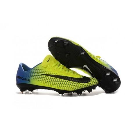 Chaussures football Nike Mercurial Vapor XI FG Homme Vert Bleu Noir
