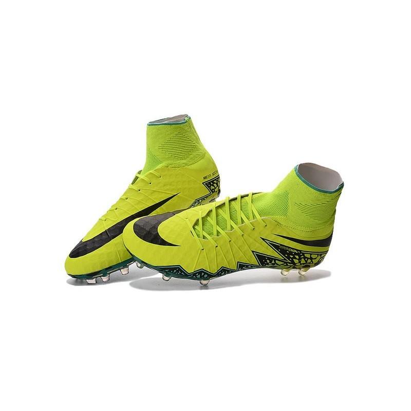 2bd4aa059c49 Nike Hypervenom Phantom 2 FG - Nouvelle Crampons de Foot Volt Noir