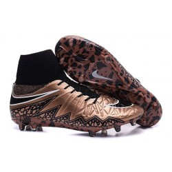 Nike Hypervenom Phantom 2 FG - Nouvelle Crampons de Foot Bronze Noir