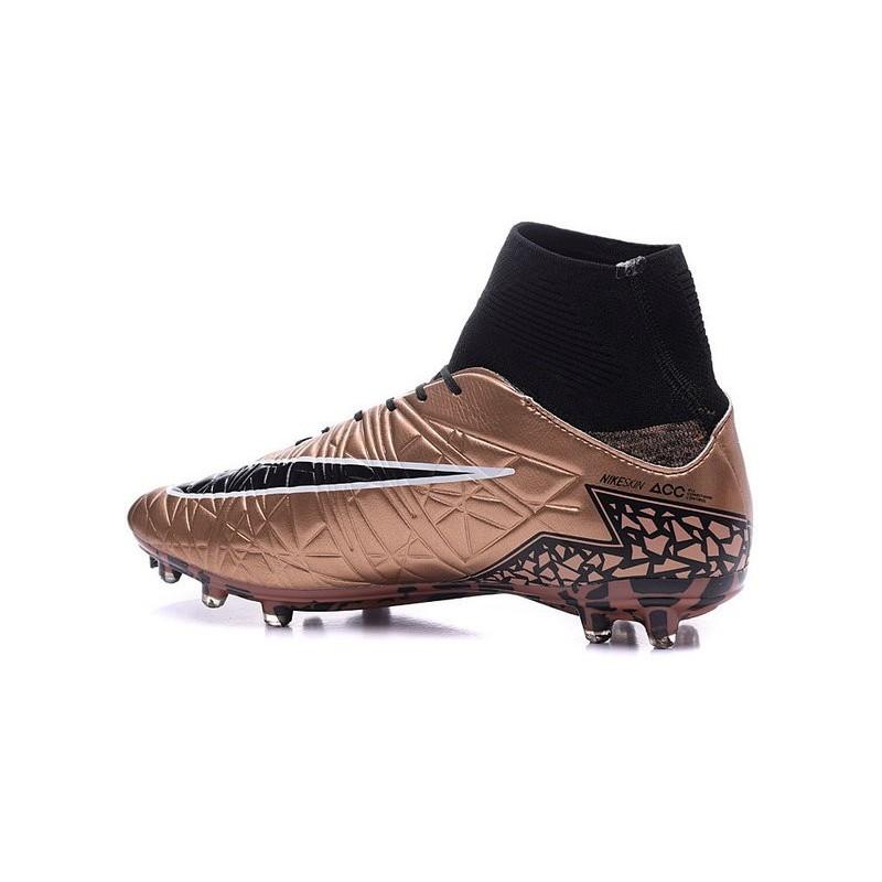 71ce97817d87 Nike Hypervenom Phantom 2 FG - Nouvelle Crampons de Foot Bronze Noir