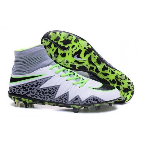 Nike Hypervenom Phantom 2 FG - Nouvelle Crampons de Foot Blanc Noir Vert