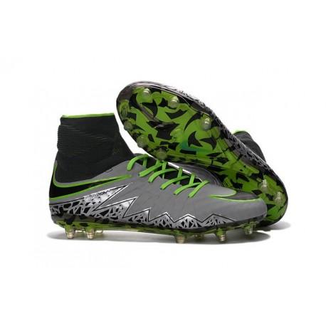 Nike Hypervenom Phantom 2 FG - Nouvelle Crampons de Foot Blanc Argent Vert