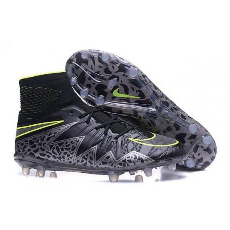 Nike Hypervenom Phantom 2 FG - Nouvelle Crampons de Foot Noir Vert