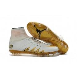 Nike Chaussure Hypervenom Phantom 2 FG ACC Neymar X Jordan NJR Blanc Or