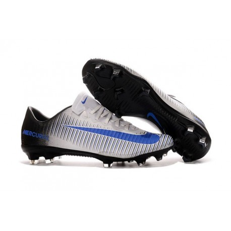 Chaussures football Nike Mercurial Vapor XI FG Homme Blanc Noir Bleu