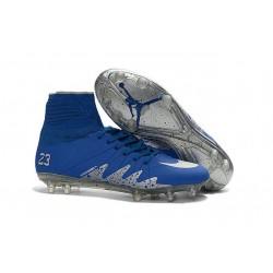 Nike Chaussure Hypervenom Phantom 2 FG ACC Neymar X Jordan NJR Bleu Blanc