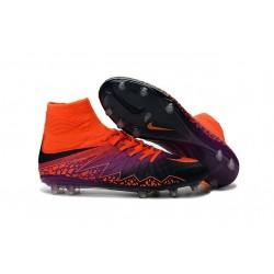 Nike Chaussure Hypervenom Phantom 2 FG ACC Homme Orange Violet Noir