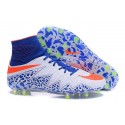 Nike Chaussure Hypervenom Phantom 2 FG ACC Blanc Bleu Orange