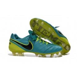 Chaussures de Football Cuir Kangourou Nike Tiempo Legend Vi FG - Bleu Volt