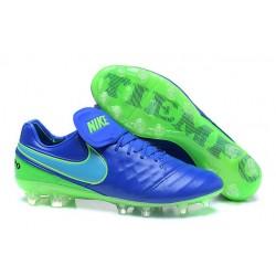 Nike Tiempo Legend 6 FG ACC - Cuir Homme Crampon Foot - Bleu Vert