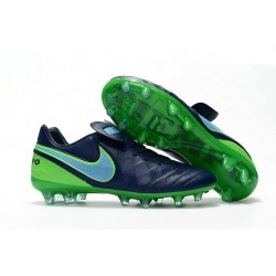 Nike Tiempo Legend 6 FG ACC - Cuir Homme Crampon Foot - Noir Vert