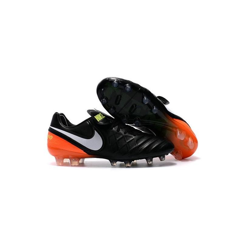 promo code 82402 d3702 ... nike tiempo legend 6 fg acc cuir homme crampon foot noir orange blanc