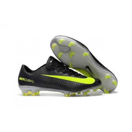 Nike Mercurial Vapor 11 CR7 FG ACC Crampons de Foot Noir Jaune