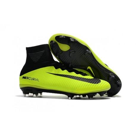Nike Mercurial Superfly V FG ACC Ronaldo Crampons - Volt Noir