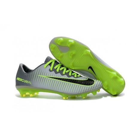Nike Mercurial Vapor 11 FG ACC Crampons de Foot Gris Noir
