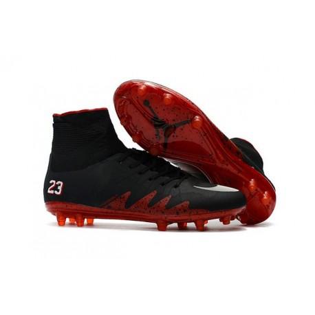 Nike Chaussure Hypervenom Phantom 2 FG ACC Neymar Jordan Noir Rouge