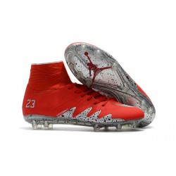 Nike Hypervenom Phantom II FG Neuf Crampons Football Neymar Jordan Rouge Argent