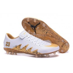 Nike Hypervenom Phinish 2 FG Chaussure de Football Neymar X Jordan Blanc Or