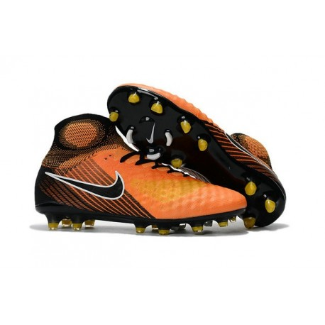 Nike Magista Obra II FG Nouveau Chaussure de Foot Orange Noir