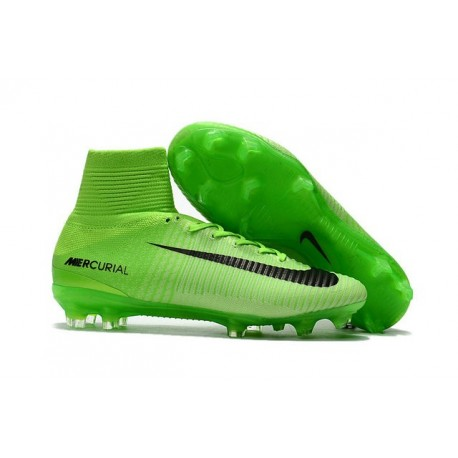 Chaussures Football Nouvelles Nike Mercurial Superfly V FG ACC -Vert Noir