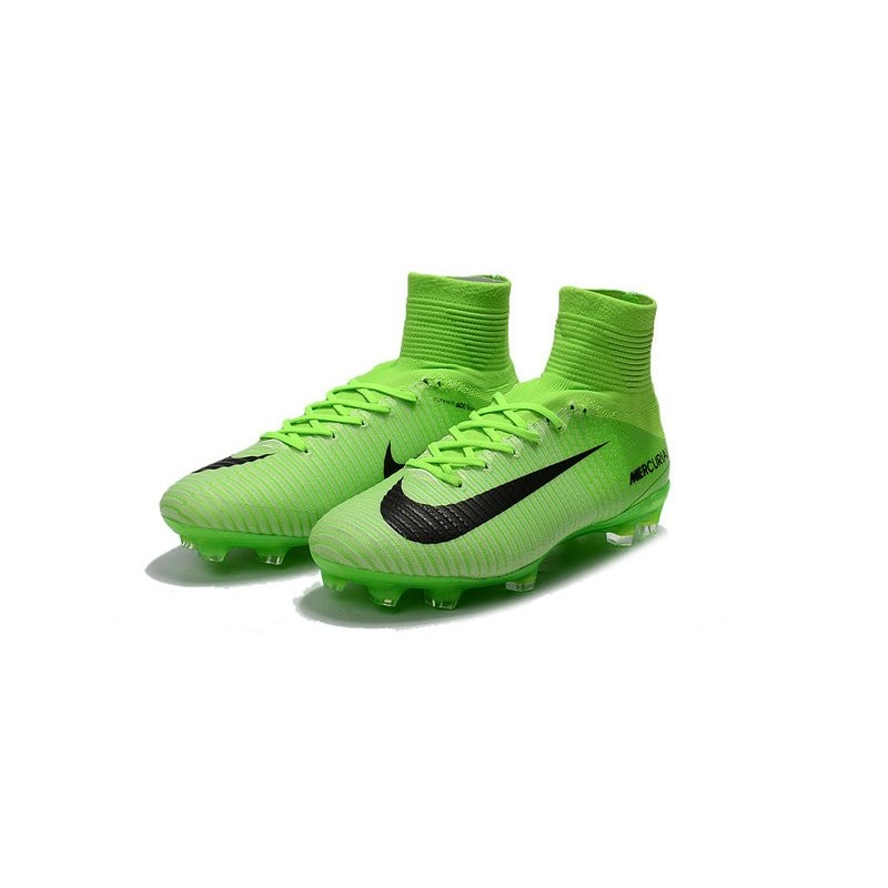 premium selection b5732 c0aca Chaussures Football Nouvelles Nike Mercurial Superfly V FG ACC -Vert Noir  Zoom. Précédent. Suivant