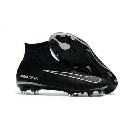 Chaussures Football Nouvelles Nike Mercurial Superfly V FG ACC -Noir Gris