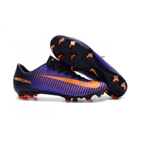 Nike Mercurial Vapor 11 FG ACC Crampons de Foot Violet Orange