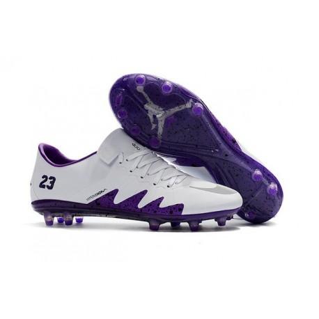 Nike Hypervenom Phinish 2 FG Chaussure de Football Homme Blanc Violet