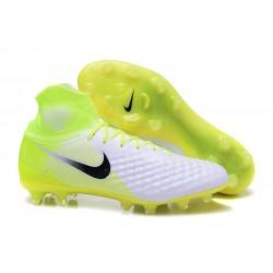 Crampons Football Nouvel Nike Magista Obra 2 FG Blanc Volt