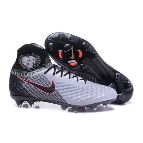 Crampons Football Nouvel Nike Magista Obra 2 FG Gris Noir