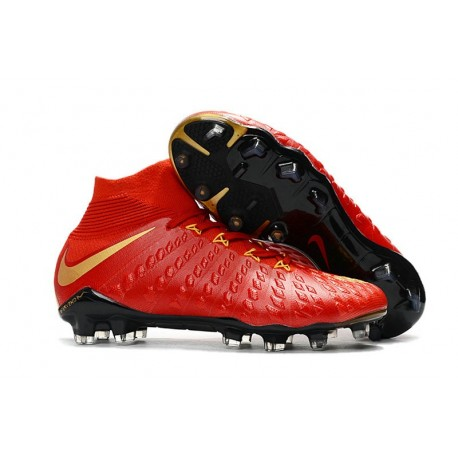 Chaussure de Football - Nike HyperVenom Phantom III FG Homme - Rouge Or
