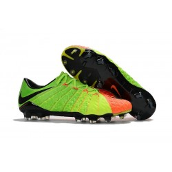 Crampons de Football 2017 Nike Hypervenom Phantom III FG Vert Orange