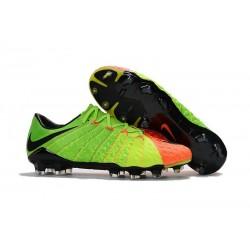 Crampons de Football 2017 Nike Hypervenom Phantom III FG Vert Orange