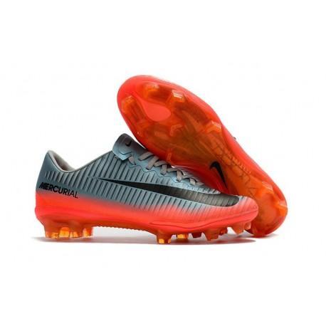 Chaussure Ronaldo 2017 Nike Mercurial Vapor XI FG Gris Orange Noir