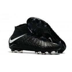 Chaussure de Football - Nike HyperVenom Phantom III FG Homme - Noir Blanc