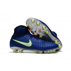 Crampons Football Nouvel Nike Magista Obra 2 FG Bleu Jaune
