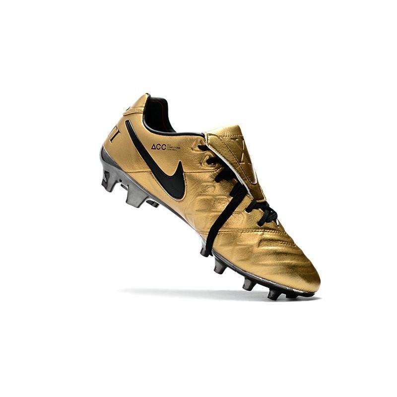 lowest price eaae9 dc049 Chaussure Nike Tiempo Totti X Roma FG Cuir Kangourou -Or Zoom. Précédent.  Suivant