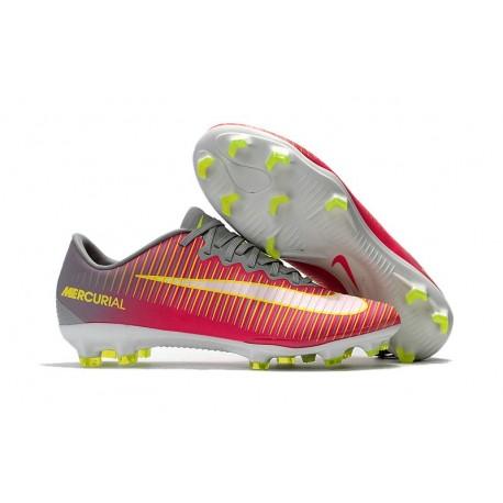 Nike Mercurial Vapor 11 FG ACC Crampon Football Rose Gris Blanc-