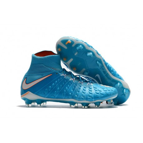 Nike HyperVenom Phantom 3 DF FG Nouvelle 2017 Crampons Foot Bleu Blanc