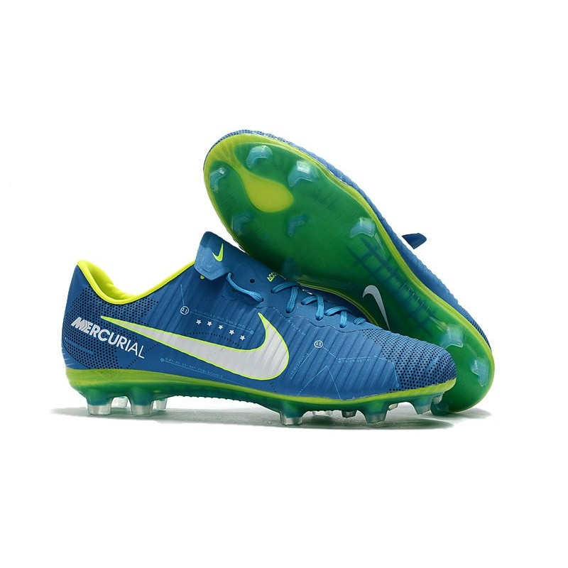 Acc Blanc Football Nike Fg Crampon Bleu Vapor Mercurial 11 4jARL35
