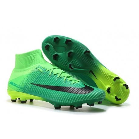 Chaussures de Football Nouvelles 2017 Nike Mercurial Superfly 5 FG - Vert Noir