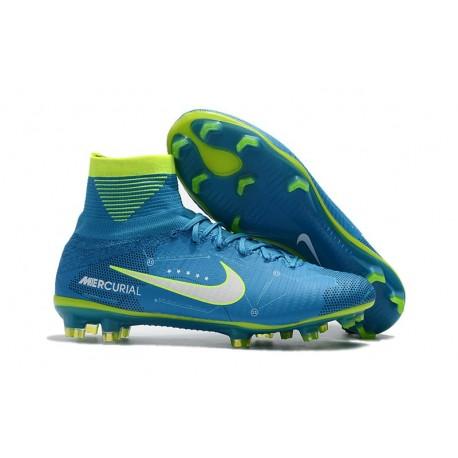 Nike Mercurial Superfly V FG Neymar Crampon de Foot - Bleu