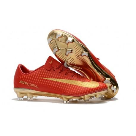 Nike Mercurial Vapor 11 FG ACC Crampon Football - Rouge Or