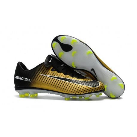 Nike Mercurial Vapor 11 FG ACC Crampon Football - Noir Jaune