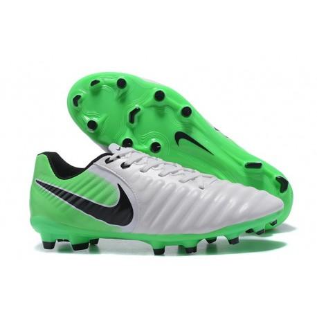 Chaussure Nike Tiempo Legend VII FG Cuir Kangourou - Blanc Vert