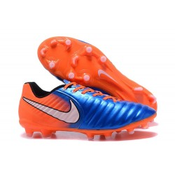 Nike Tiempo Legend VII FG Crampon de Football 2017 - Bleu Orange