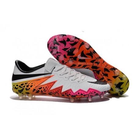 Chaussure a Crampon Nike Hypervenom Phinish FG Blanc Rose Noir