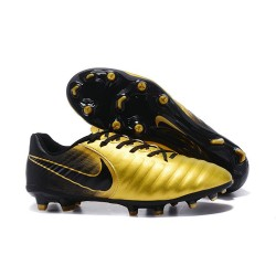 Nike Tiempo Legend VII FG Crampon de Football 2017 - Or Noir
